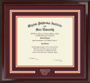 Virginia Tech Diploma Frame - Spirit Medallion Diploma Frame in Encore