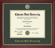 Colorado State University Diploma Frame - Masterpiece Medallion Diploma Frame in Kensington Gold