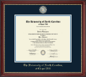 University of North Carolina Chapel Hill Diploma Frame - Masterpiece Medallion Diploma Frame in Kensington Gold
