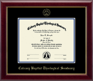 Calvary Baptist Theological Seminary Diploma Frame - Gold Embossed Diploma Frame in Gallery