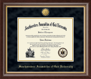 Southwestern Assemblies of God University Diploma Frame - 23K Medallion Diploma Frame in Hampshire