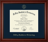 DeVry Institute of Technology Diploma Frame - Embossed Diploma Frame in Cambridge