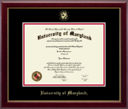 University of Maryland, College Park Diploma Frame - Gold Embossed Diploma Frame in Gallery