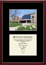 Waubonsee Community College Diploma Frame - Campus Scene Diploma Frame in Galleria