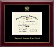 Westwood Regional High School Diploma Frame - Gold Embossed Diploma Frame in Gallery