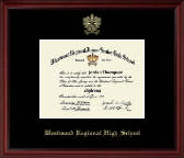 Westwood Regional High School Diploma Frame - Gold Embossed Diploma Frame in Camby
