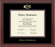Culver Academies Diploma Frame - Gold Embossed Diploma Frame in Signature