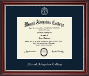 Mount Aloysius College Diploma Frame - Silver Embossed Diploma Frame in Kensington Silver