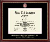 Texas Tech University Health Sciences Center Diploma Frame - Masterpiece Medallion Diploma Frame in Kensington Gold