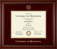 University of Minnesota Twin Cities Diploma Frame - Gold Embossed Diploma Frame in Cambridge