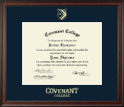 Covenant College Diploma Frame - Gold Embossed Diploma Frame in Studio