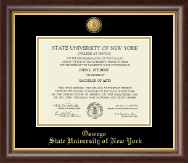 State University of New York at Oswego Diploma Frame - 23K Medallion Diploma Frame in Hampshire
