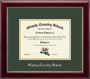 Glenelg Country School Diploma Frame - Embossed Diploma Frame in Gallery