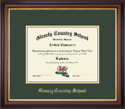 Glenelg Country School Diploma Frame - Embossed Diploma Frame in Regency Gold