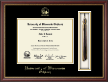 University of Wisconsin Oshkosh Diploma Frame - Tassel Edition Diploma Frame in Newport