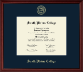 South Plains College Diploma Frame - Gold Embossed Diploma Frame in Camby