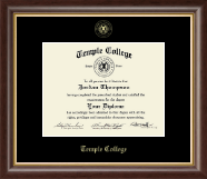 Temple College Diploma Frame - Gold Embossed Diploma Frame in Hampshire