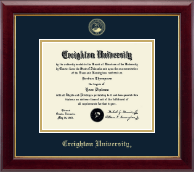 Creighton University Diploma Frame - Gold Embossed Diploma Frame in Gallery