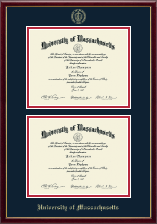 University of Massachusetts Lowell Diploma Frame - Double Diploma Frame in Galleria