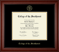 College of the Southwest Diploma Frame - Gold Embossed Diploma Frame in Cambridge