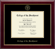 College of the Southwest Diploma Frame - Gold Embossed Diploma Frame in Gallery