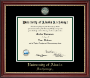 University of Alaska Anchorage Diploma Frame - Masterpiece Medallion Diploma Frame in Kensington Gold