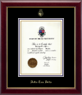 Delta Tau Delta Certificate Frame - Embossed Certificate Frame in Gallery