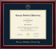 Georgia Southern University Diploma Frame - Gold Embossed Diploma Frame in Gallery