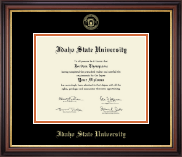 Idaho State University Diploma Frame - Gold Embossed Diploma Frame in Regency Gold