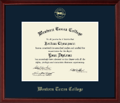 Western Texas College Diploma Frame - Gold Embossed Diploma Frame in Camby