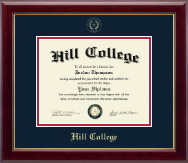 Hill College Diploma Frame - Gold Embossed Diploma Frame in Gallery