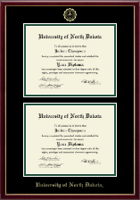 University of North Dakota Diploma Frame - Double Diploma Frame in Galleria