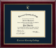 Tarrant County College Diploma Frame - Gold Embossed Diploma Frame in Gallery