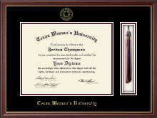 Texas Woman's University Diploma Frame - Tassel Diploma Frame in Newport