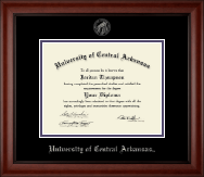 University of Central Arkansas Diploma Frame - Silver Embossed Diploma Frame in Cambridge