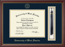 University of West Florida Diploma Frame - Tassel Diploma Frame in Newport