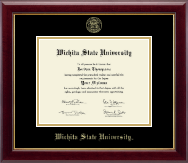Wichita State University Diploma Frame - Gold Embossed Diploma Frame in Gallery