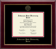 Arkansas State University Beebe Diploma Frame - Gold Embossed Diploma Frame in Gallery
