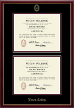 Union College in New York Diploma Frame - Double Diploma Frame in Galleria