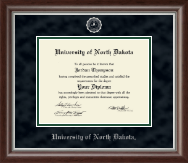 University of North Dakota Diploma Frame - Silver Embossed Diploma Frame in Devonshire