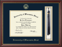 University of Wisconsin-Stout Diploma Frame - Tassel Diploma Frame in Newport