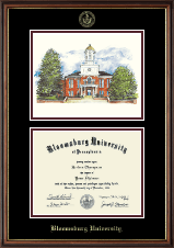 Bloomsburg University Diploma Frame - Lithograph Diploma Frame in Williamsburg