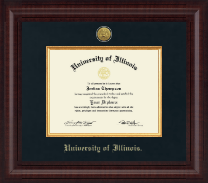University of Illinois Diploma Frame - Presidential Gold Engraved Diploma Frame in Premier