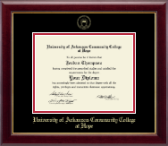 University of Arkansas Community College at Hope Diploma Frame - Gold Embossed Diploma Frame in Gallery