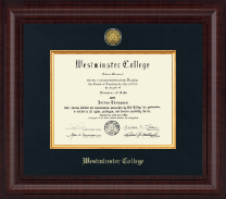 Westminster College in Missouri Diploma Frame - Presidential Gold Engraved Diploma Frame in Premier