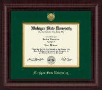 Michigan State University Diploma Frame - Presidential Gold Engraved Diploma Frame in Premier