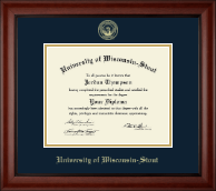 University of Wisconsin-Stout Diploma Frame - Gold Embossed Diploma Frame in Cambridge