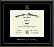 Bloomsburg University Diploma Frame - Gold Embossed Diploma Frame in Onyx Gold