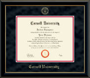Cornell University Diploma Frame - Gold Embossed Diploma Frame in Onyx Gold
