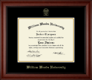 William Woods University Diploma Frame - Gold Embossed Diploma Frame in Cambridge